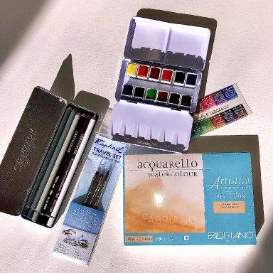 The Art Sherpa French Escape Watercolor Palette